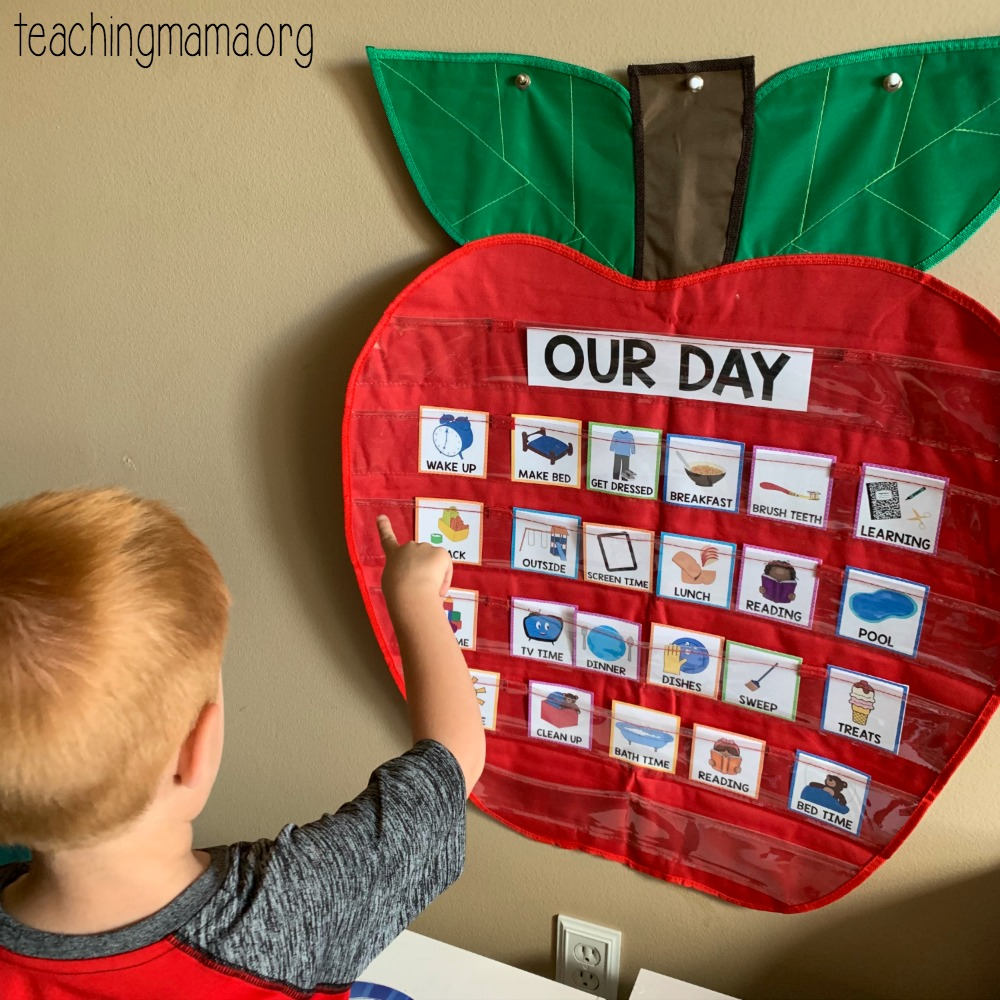 summer visual schedule for kids