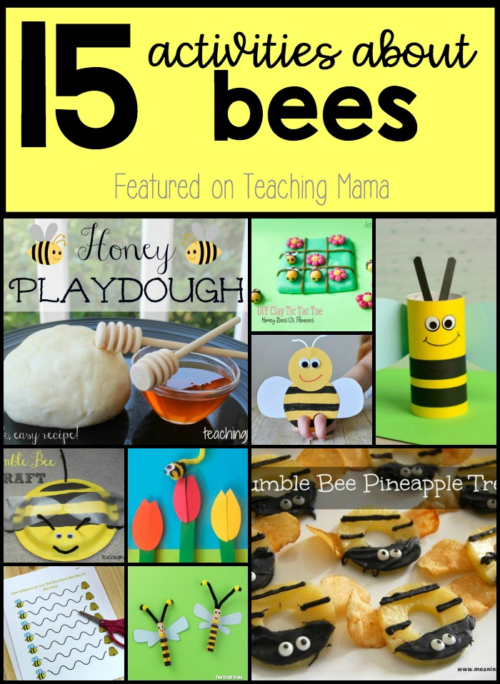 15 Activities About Bees - crafts, activities, and snacks all about bees!
