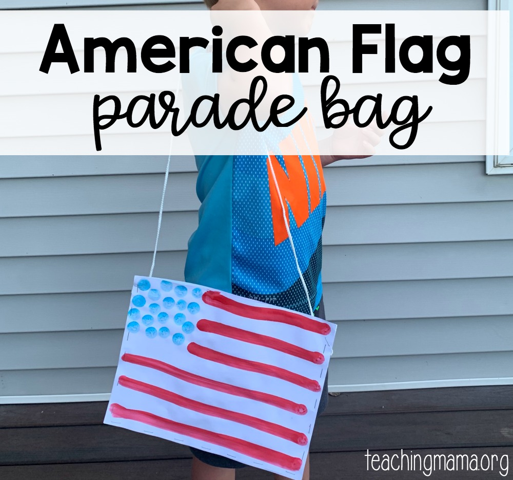 American flag parade bag - solution for carrying parade goodies