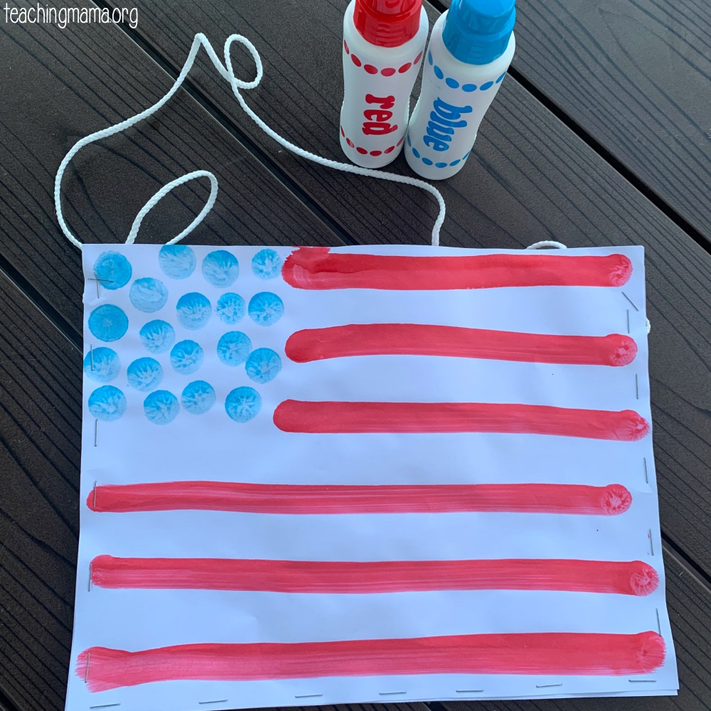 American flag parade bag