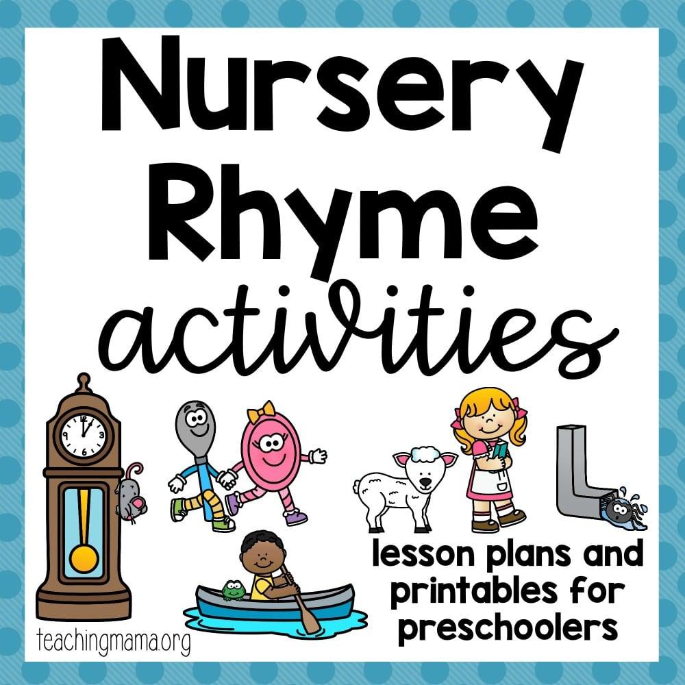 Nursery Rhyme Activities Teaching Mama