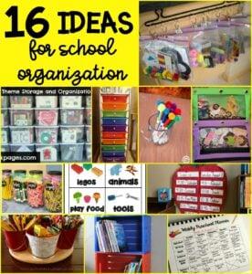 16 Ideas for School Organization