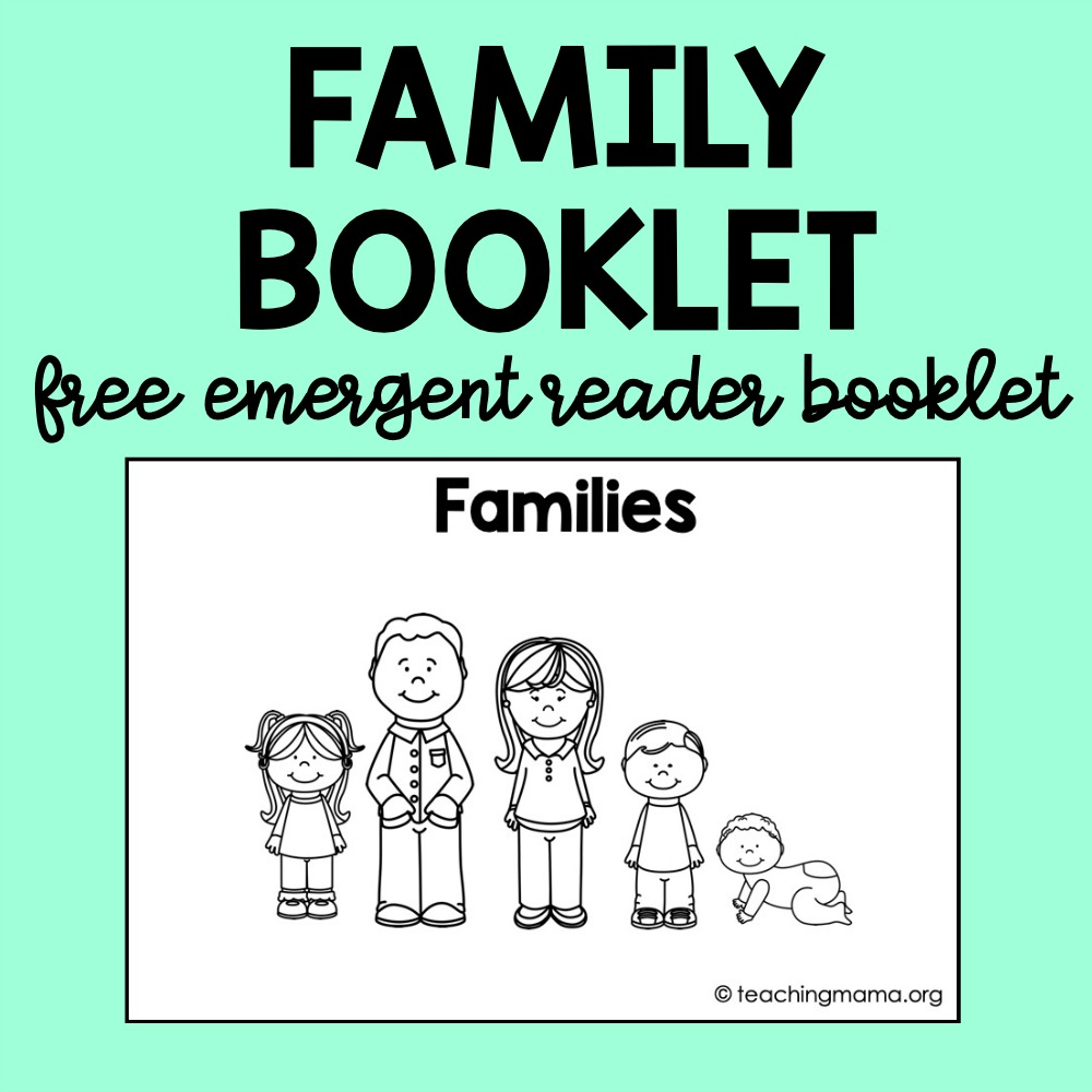 family booklet - free printable
