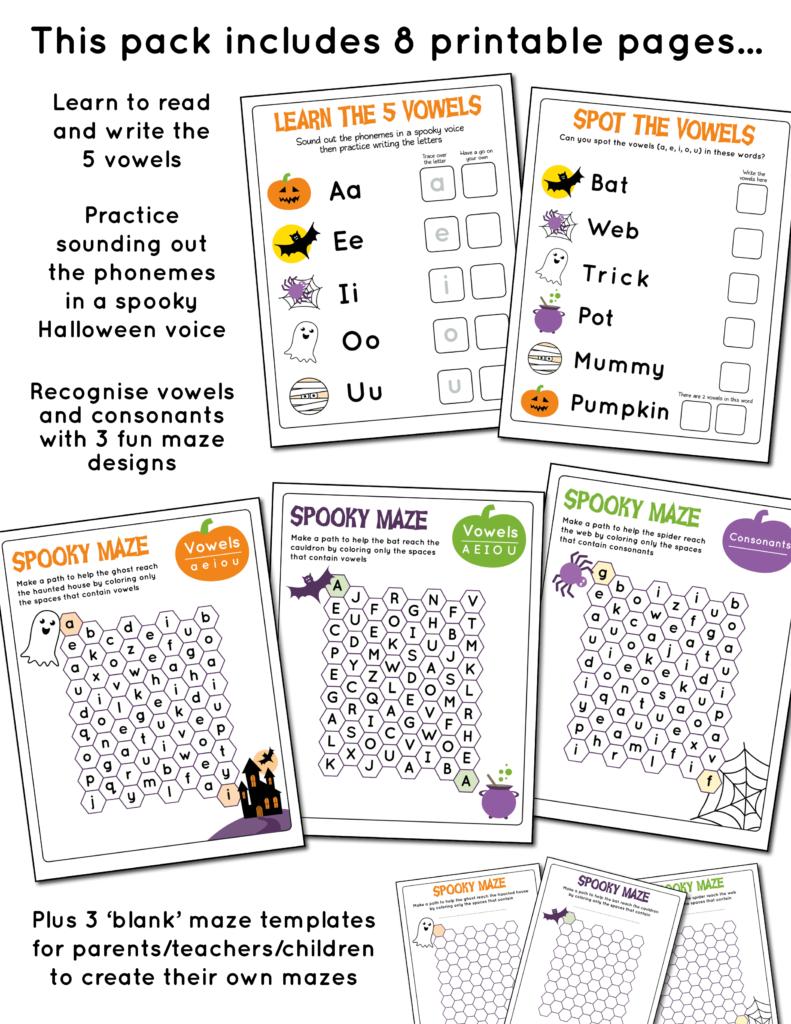 Halloween Letter Mazes