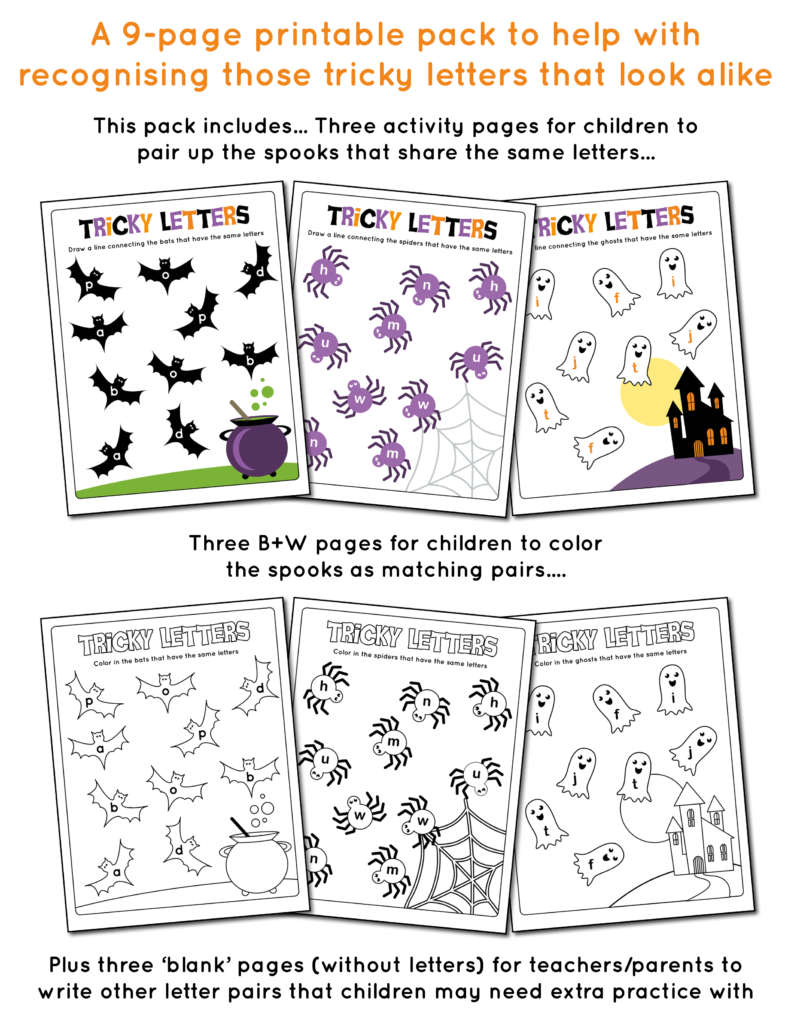 Tricky Letters Packet for Halloween