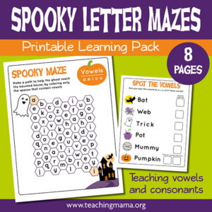 Spooky Letter Mazes