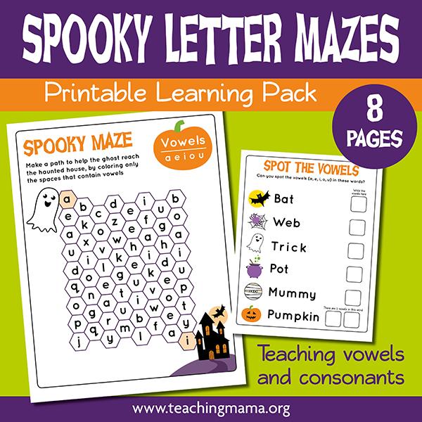Spooky Letter Mazes