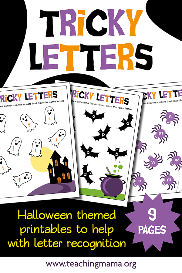 Halloween Tricky Letters