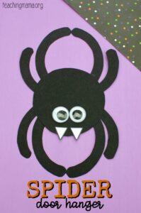 spider door hanger craft for kids