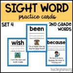 Sight Word Practice Cards – Second Grade