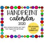 Handprint Calendar Gift Idea