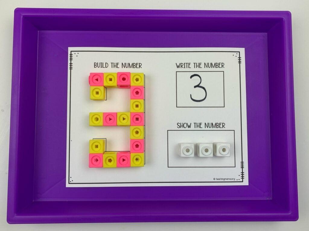 unifix cube number 3