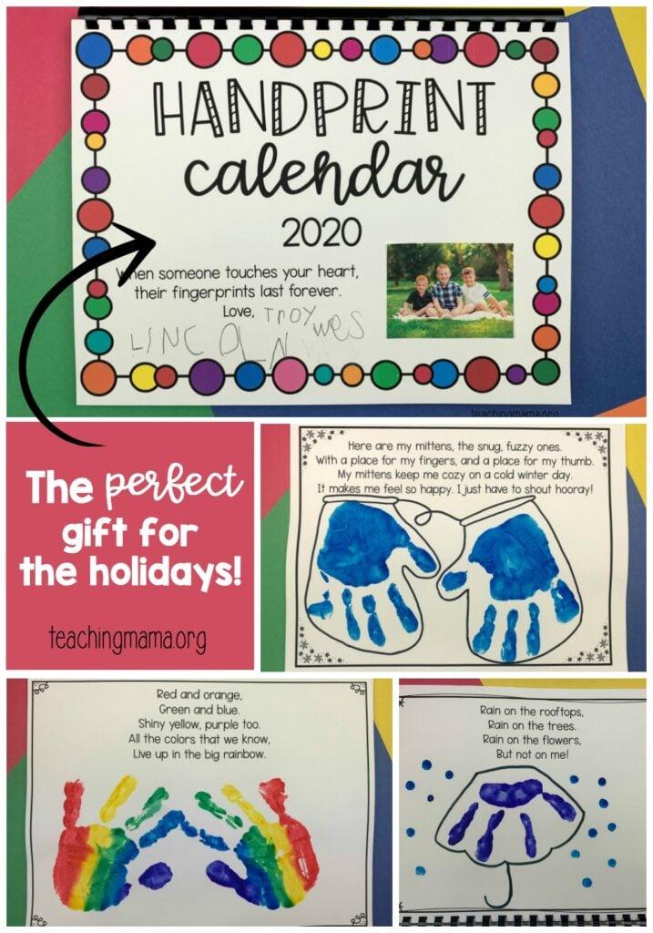 handprint calendar project - great gift idea!