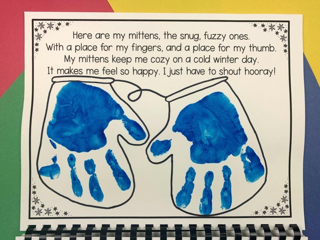 january handprint calendar project