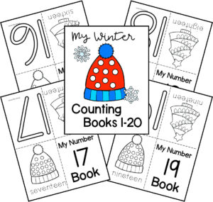 winter counting printable booklet