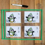 Counting Snowballs Addition Cards