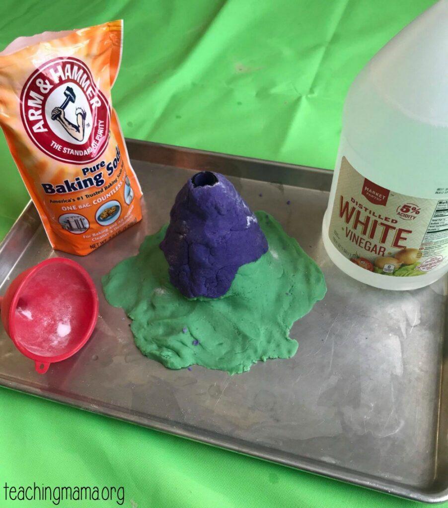 play dough volcano