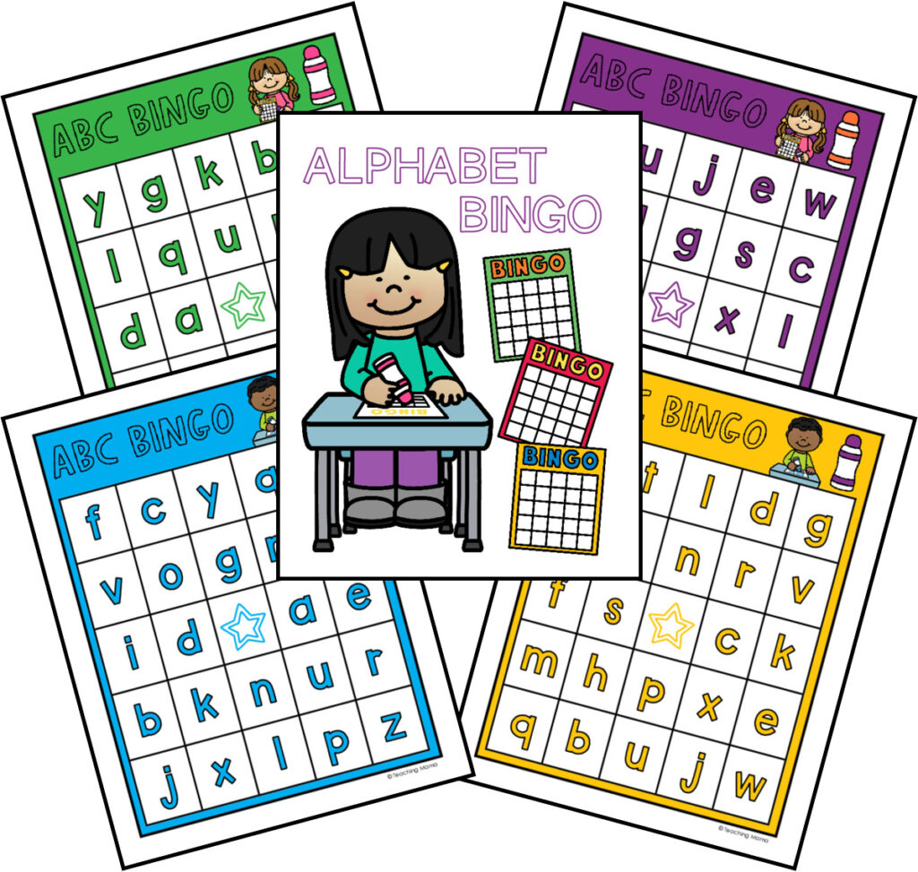 lowercase alphabet bingo - free printable
