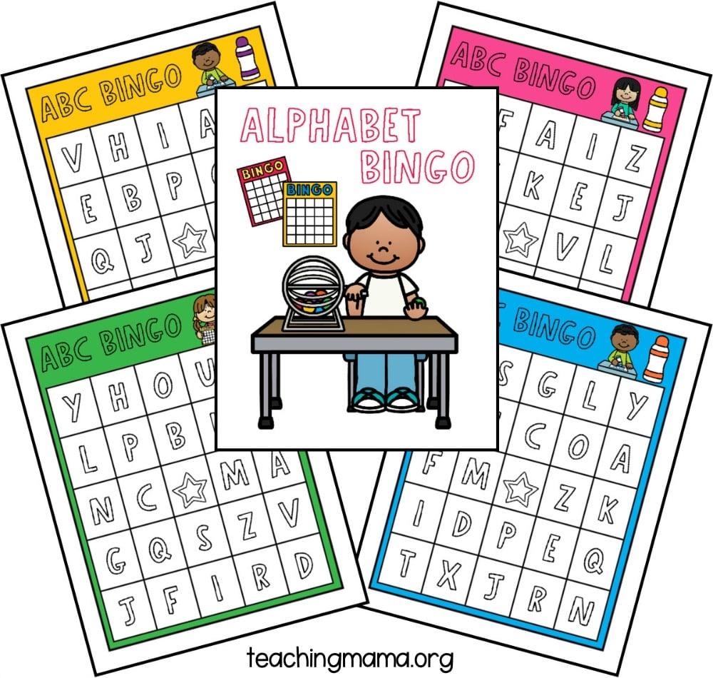 Alphabet Bingo Game Teaching Mama
