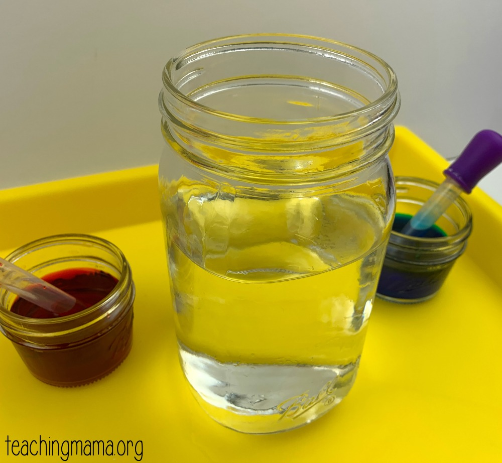 color mixing activity - step 1
