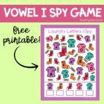 Laundry Letters I-Spy Printables