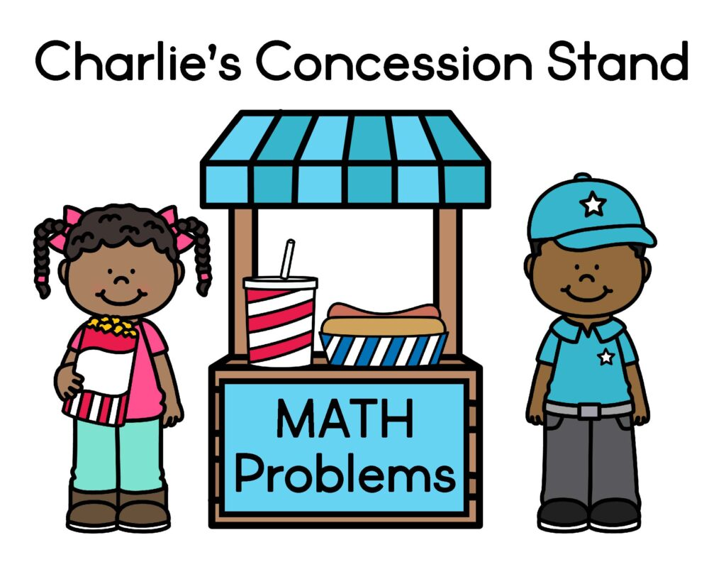 concession stand theme math problems for 2nd graders