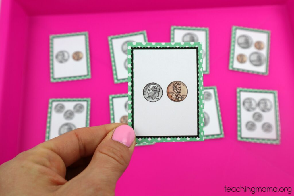 money war card with eleven cents