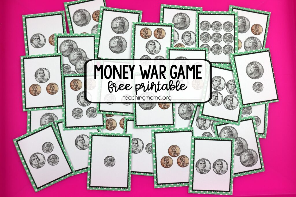 money war printable game