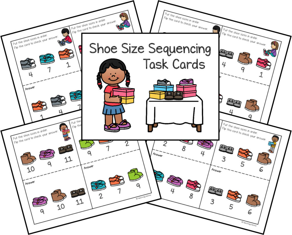 sequencing cards to practice ordering numbers