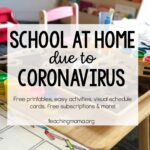 School at Home Due to Coronavirus