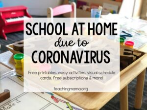 school at home due to coronavirus - tips and activities for kids