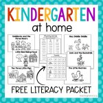 Kindergarten At Home Literacy Packet