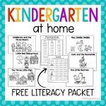 Kindergarten At Home Literacy Packet