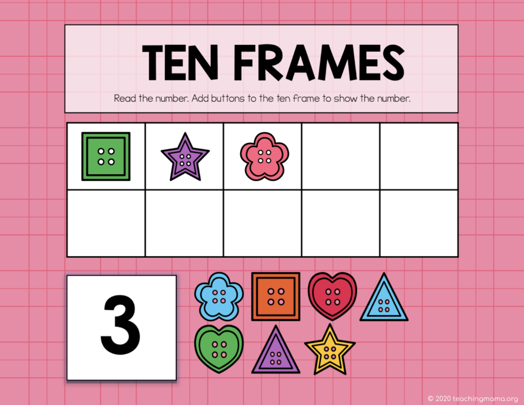 ten frames on google slides