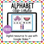 Digital Alphabet Clip Cards