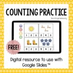Digital Counting Activities Using Google Slides™ and Seesaw