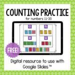 Digital Counting Activities for Numbers 11-20