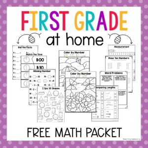 first grade math packet
