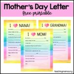 Mother's Day Letter – Free Printable