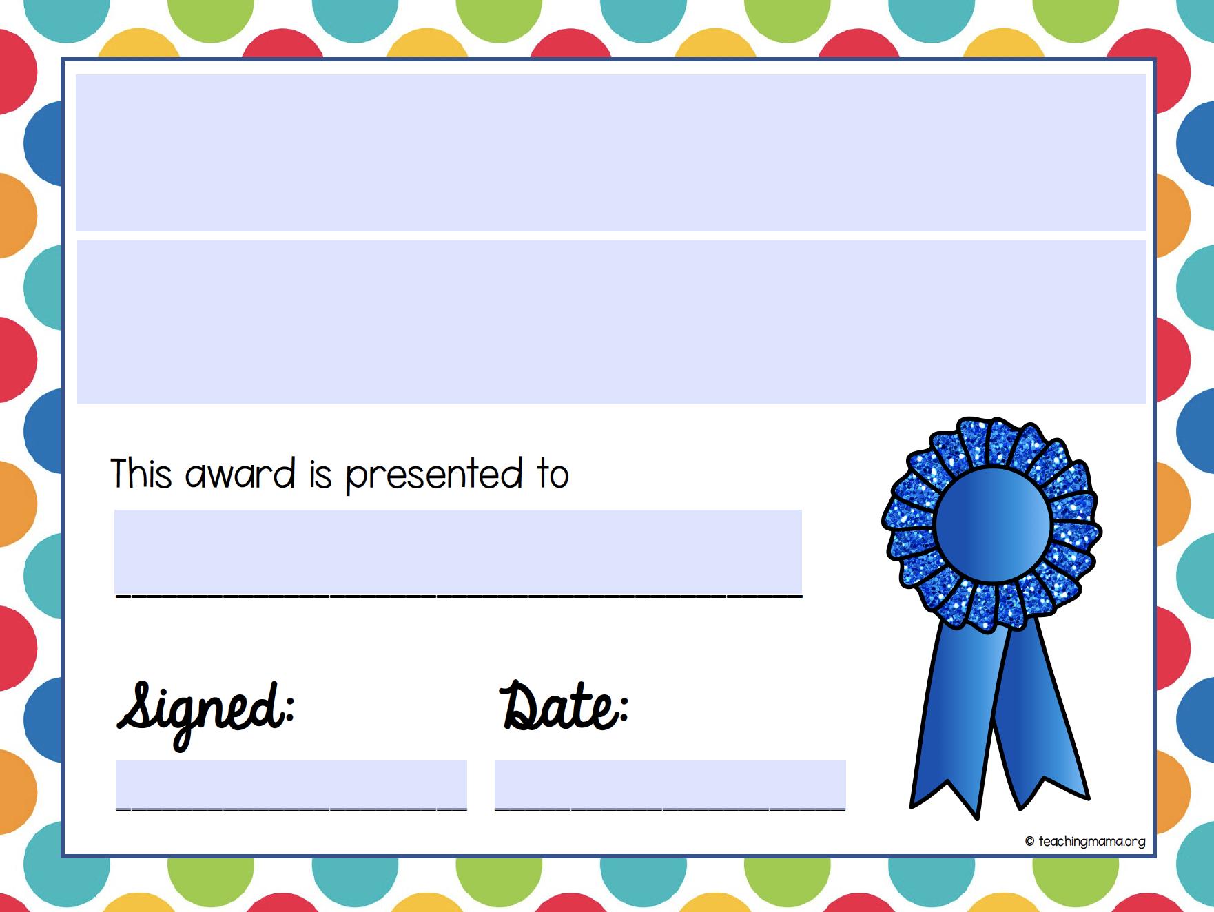 end of school year awards- editable version