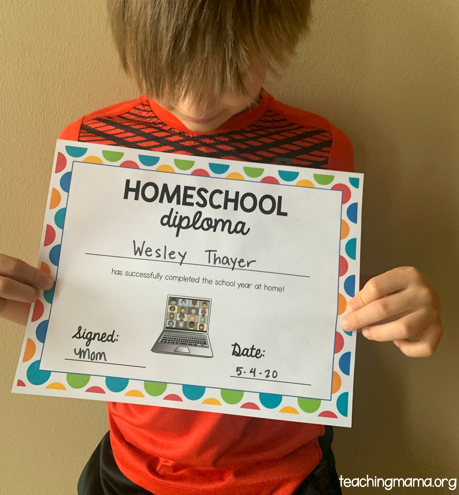 homeschool diploma printable