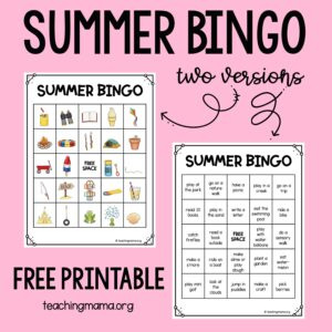 summer bingo activities