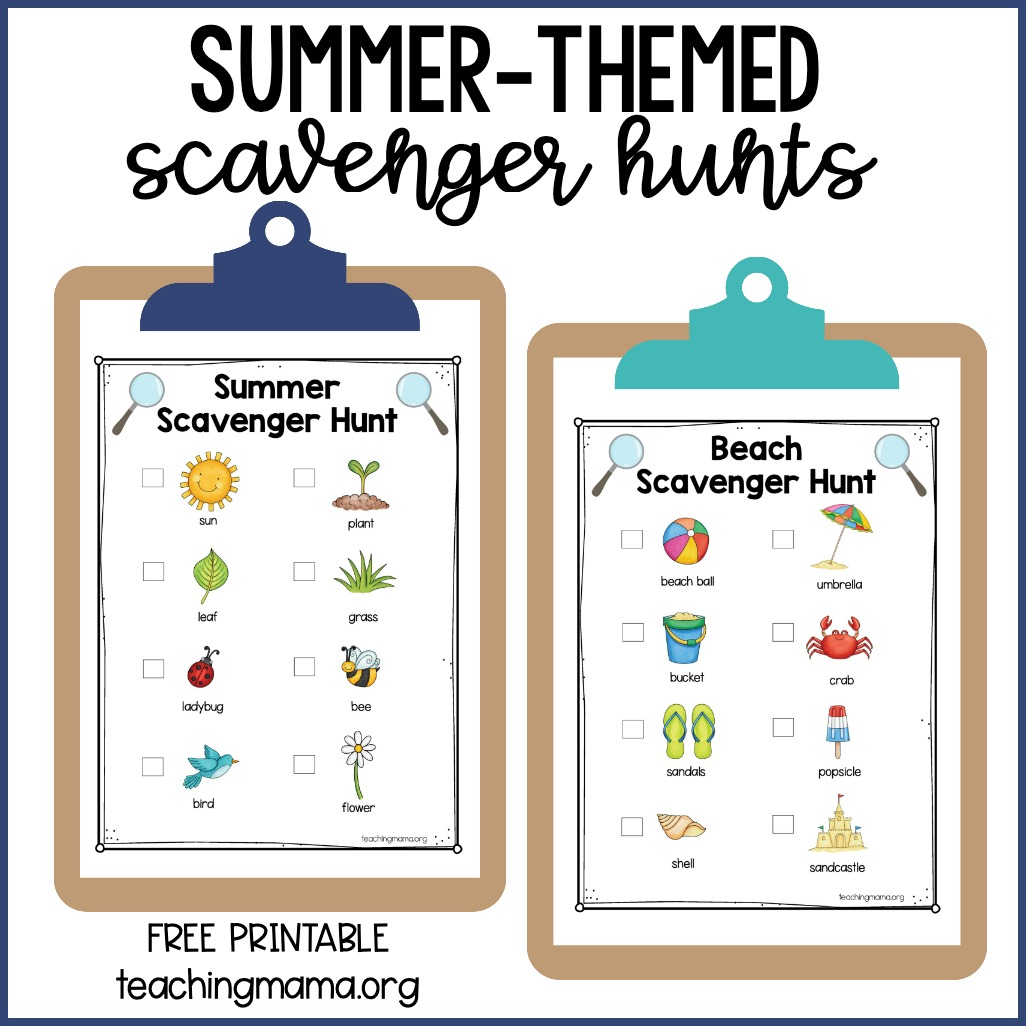 summer-themed scavenger hunts