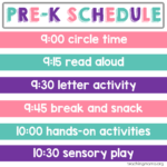 Home Preschool Schedule