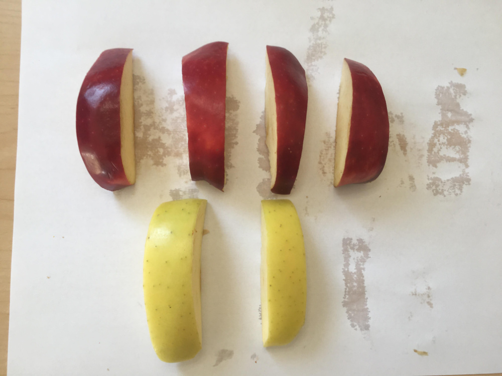 apple slices for subtraction