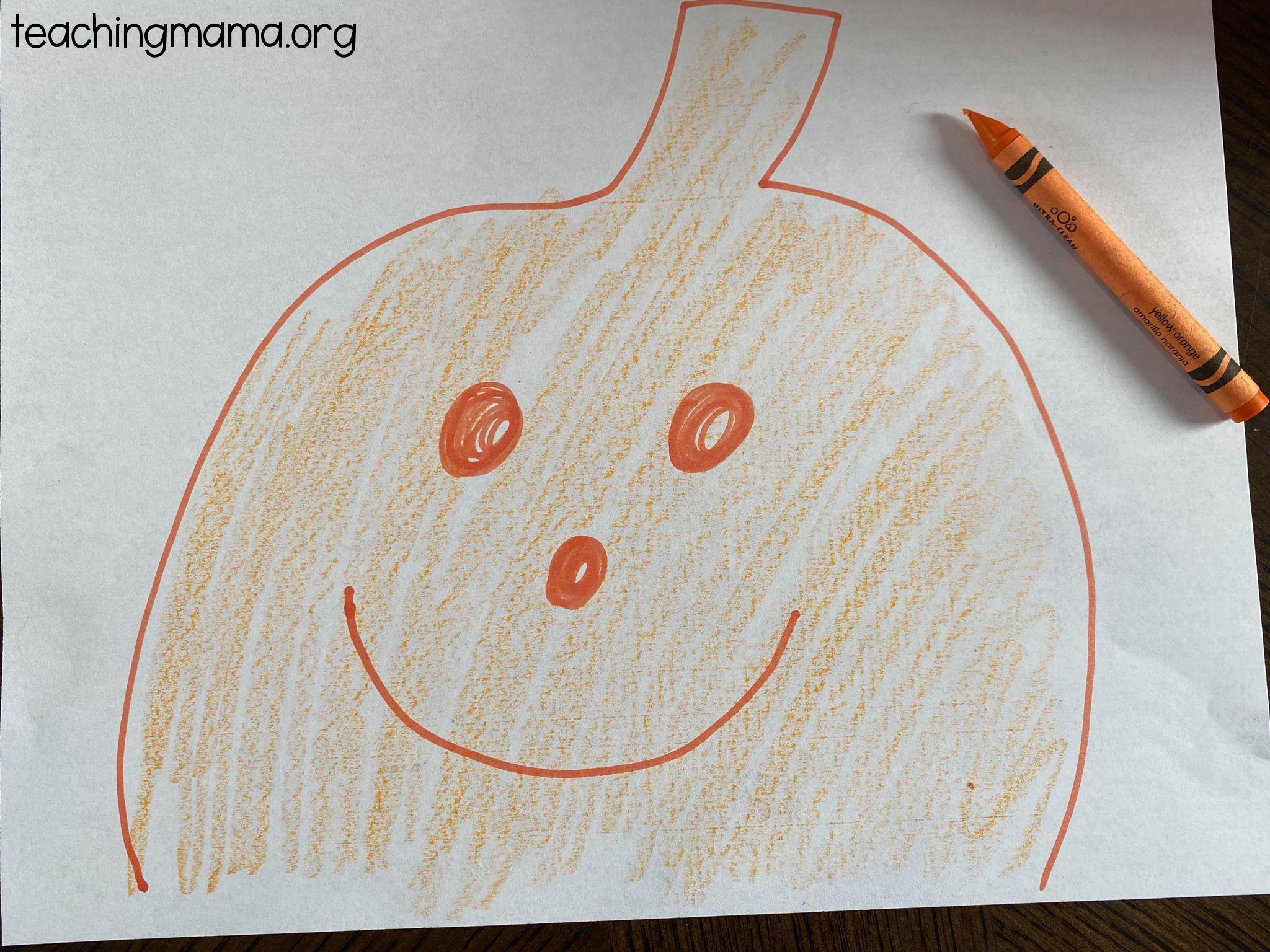 draw a pumpkin face
