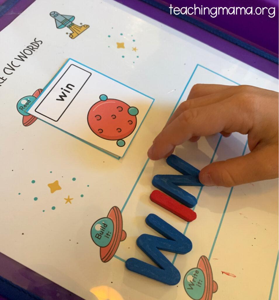 building the cvc word