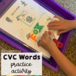 CVC Words Practice Activity