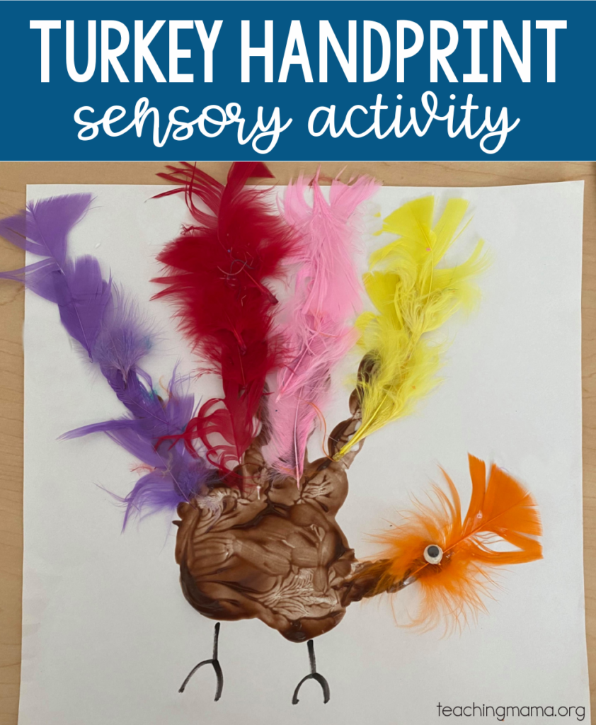 turkey handprint sensory activity
