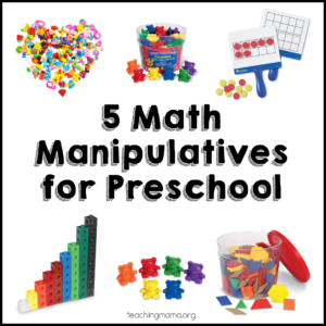 5 Math Manipulatives for Preschool